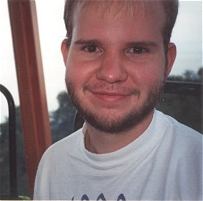 Andy on the ferris wheel at Cedar Point, 1992 or 1993