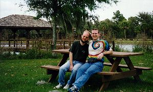 Andy and me on the grounds at FINR, April 1997